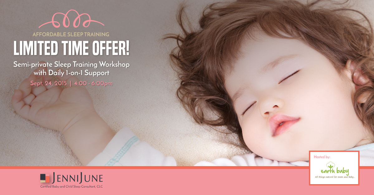 9/24 – WORKSHOP DISCOUNT : Save over 50% on Jenni June's Semi-private Sleep Training Workshop + Daily Support