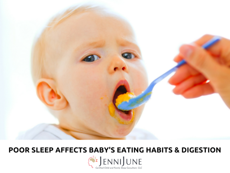 Poor Sleep Affects Baby's Eating Habits and Digestion